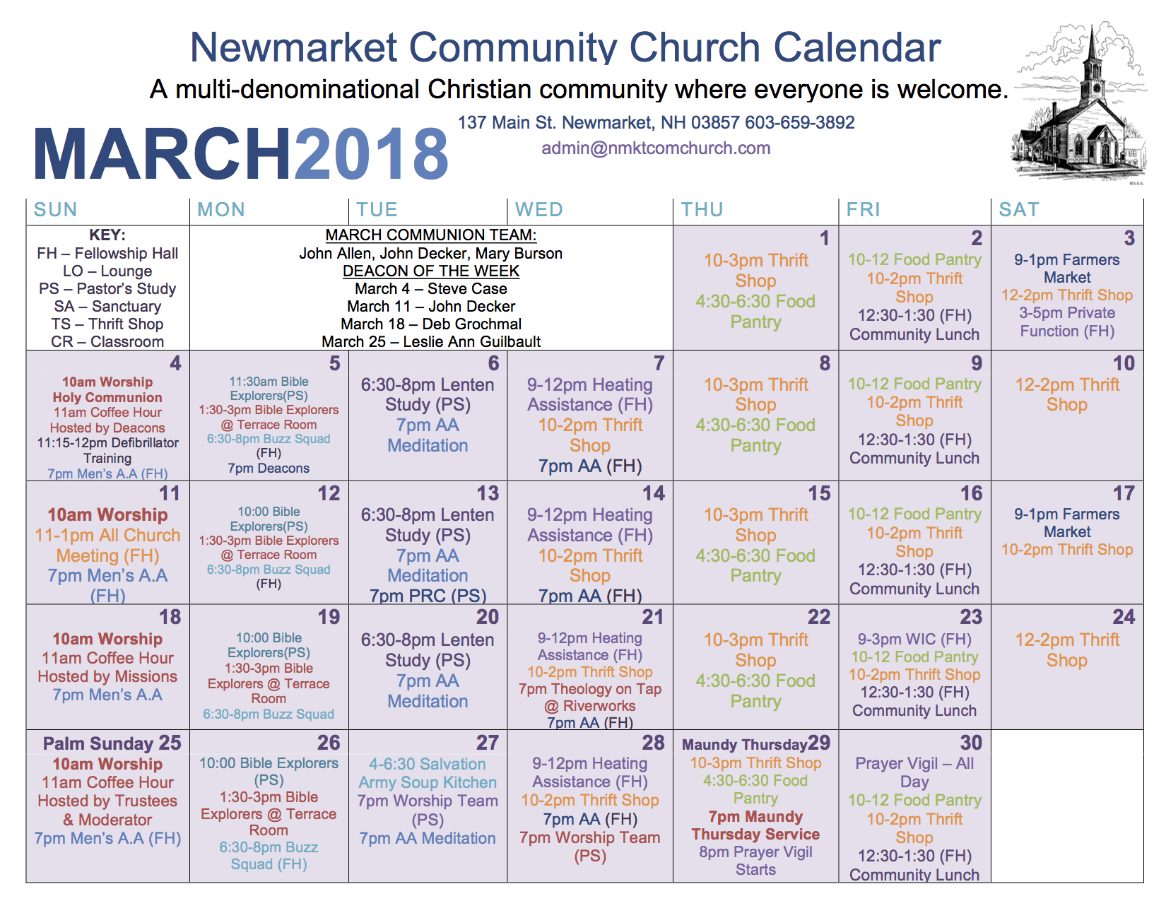 Newmarket Food Pantry Nh